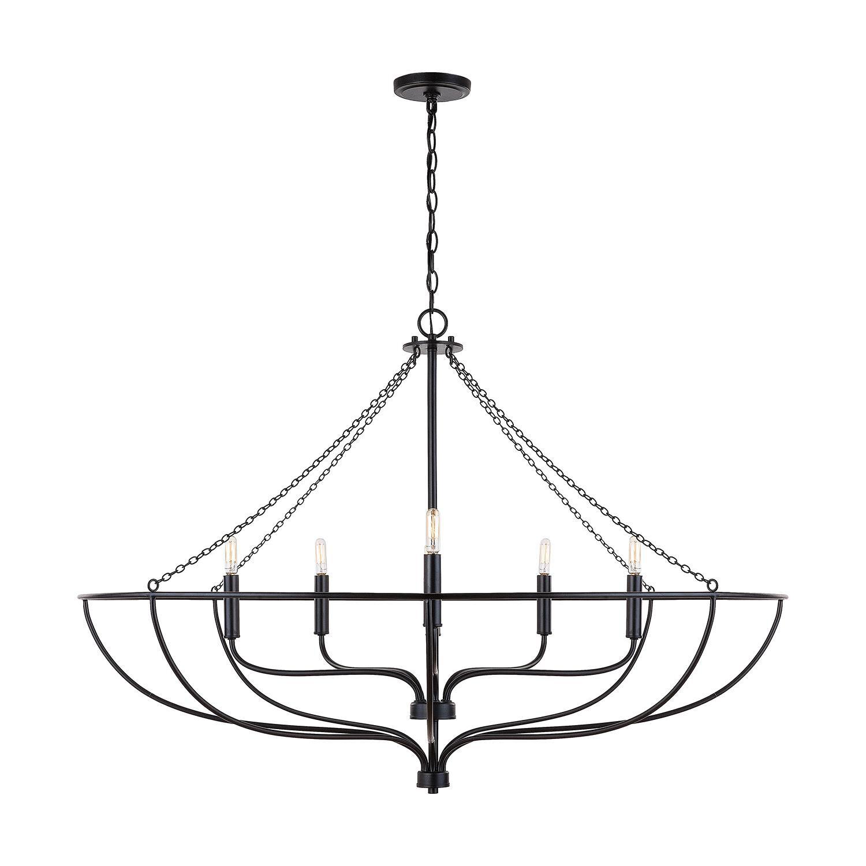 Shop Nira 44 Inch 6 Light Chandelier   Capitol Lighting from 1-800 Lighting on Openhaus
